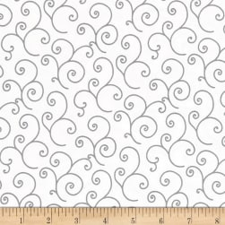 Maywood Studio Kimberbell Basics Scroll White/Gray Fabric
