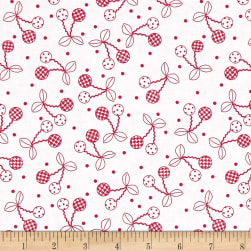 Maywood Studio Kimberbell Basics Cheerful Cherries Red Fabric
