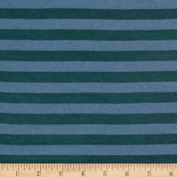 Yarn Dye Jersey Knit Basil Green/Sage Stripes