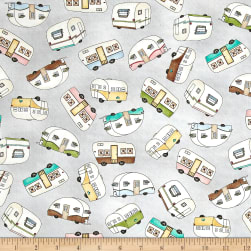 Maywood Studio Roam Sweet Home Trailer Toss Soft Gray
