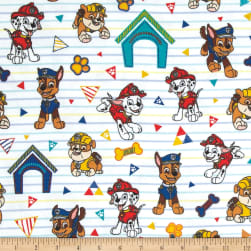 Nickelodeon Paw Patrol Pawsome Rescue Pups Flannel White