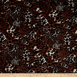 Brushed Hatchi Sweater Knit Cheetah Print Brown/Black