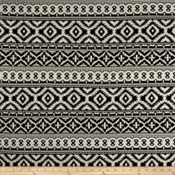 Jacquard Double Knit Aztec Black/Cream Fabric