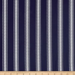 Telio Moda Crepe White Strings on Navy Fabric