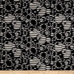 Telio Sawyer Jacquard Knit Striped Circles Ivory/Black Fabric