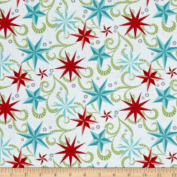 Contempo Nordic Holiday Nordic Star White Fabric