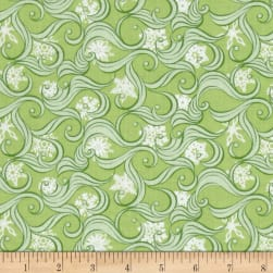 Contempo Nordic Holiday Blizzard Light Green Fabric