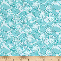 Contempo Nordic Holiday Blizzard Light Turquoise Fabric