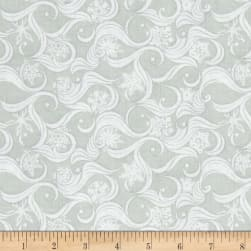 Contempo Nordic Holiday Blizzard Light Grey Fabric