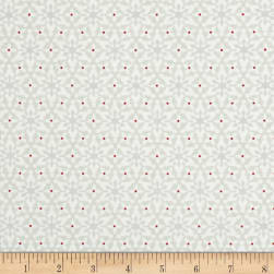 Contempo Nordic Holiday Small Snowflakes Light Grey Fabric