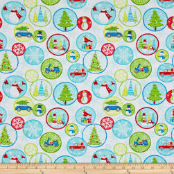 Contempo Mulberry Lane Holiday Fun White Fabric