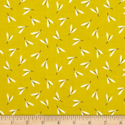 Contempo Zentastic Petals Citron Fabric