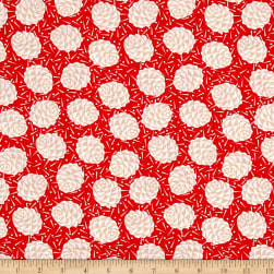 Kanvas Winter Story Winter Pine Red Fabric