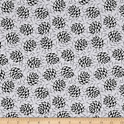 Kanvas Winter Story Winter Pine Silver Fabric