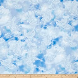Kanvas Heaven Sent Heavenly Angels Blue Fabric