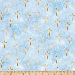 Kanvas Heaven Sent Luminated Cross Blue Fabric