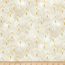 Kanvas Heaven Sent Luminated Cross Tan Fabric