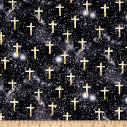 Kanvas Heaven Sent Luminated Cross Black Fabric