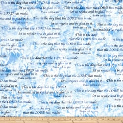 Kanvas Heaven Sent Psalm 118:24 Blue Fabric