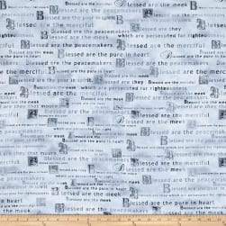 Kanvas Heaven Sent Beatitudes Gray Fabric
