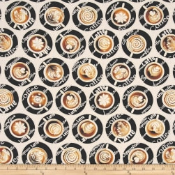 Kanvas Expresso Yourself Latte Love Cream Fabric
