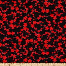 Kanvas Moon Flower Blossom Silhouette Black/Red