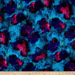 Kanvas Patio Splash Screen Porch Turquoise/Fuschia