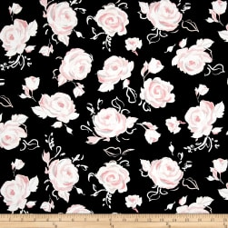 Kanvas City Ballet Ballet Rose Black Fabric