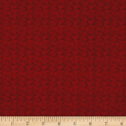 Butterfly Fandango Swirling Texture Dark Red Metallic Fabric