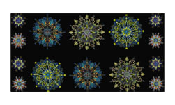 "Kismet Kismet Manadals 23"" Panel Blue/Multi"