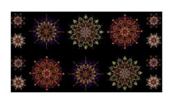 "Kismet Kismet Manadals 23.5"" Panel Purple/Multi"
