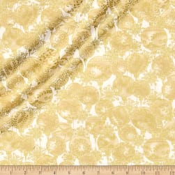 A Festive Season Metallic Hanging Ornaments Cream Fabric
