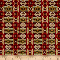 Living Lodge Rustic Blanket Red Fabric