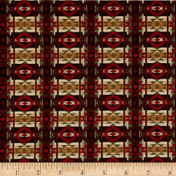 Living Lodge Rustic Blanket Brown Fabric