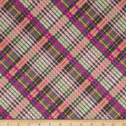 My Gray or the Highway Colorful Plaid Fabric