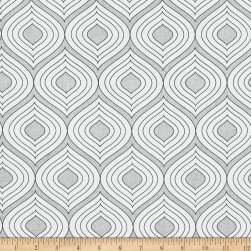 The Coloring Collection Ogee Gray Fabric