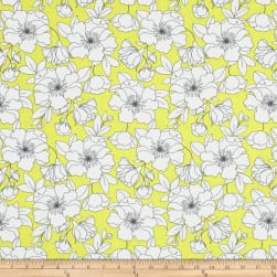 The Coloring Collection Floral Yellow Fabric