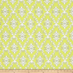 The Coloring Collection Damask Yellow Fabric