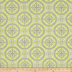 The Coloring Collection Medallion Yellow Fabric
