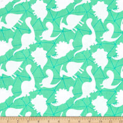 Dino-Mite Silhouettes Spearmint Fabric