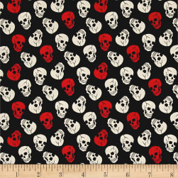 Open Road Toss Skulls Black