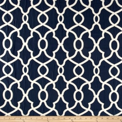 Kelly Ripa Home Clearly Cool Jacquard Indigo Fabric