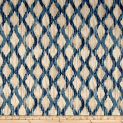 Kelly Ripa Home Floating Trellis Indigo Fabric