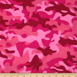 Flannel Camo Pink Fabric