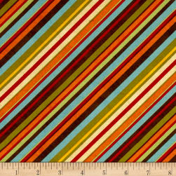 Colors of Fall Diagonal Stripe Multi