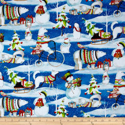 Snowy Friends Scenic Multi Fabric