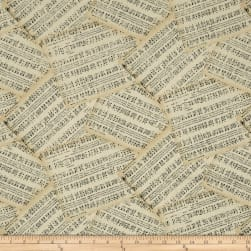 Angel Song Music Ivory Fabric