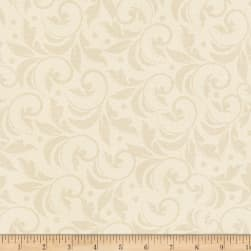 Angel Song Scroll Ivory Fabric