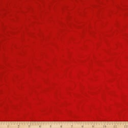 Angel Song Scroll Red Fabric