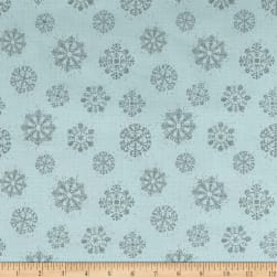 Magic of the Season Snowflakes Blue Fabric